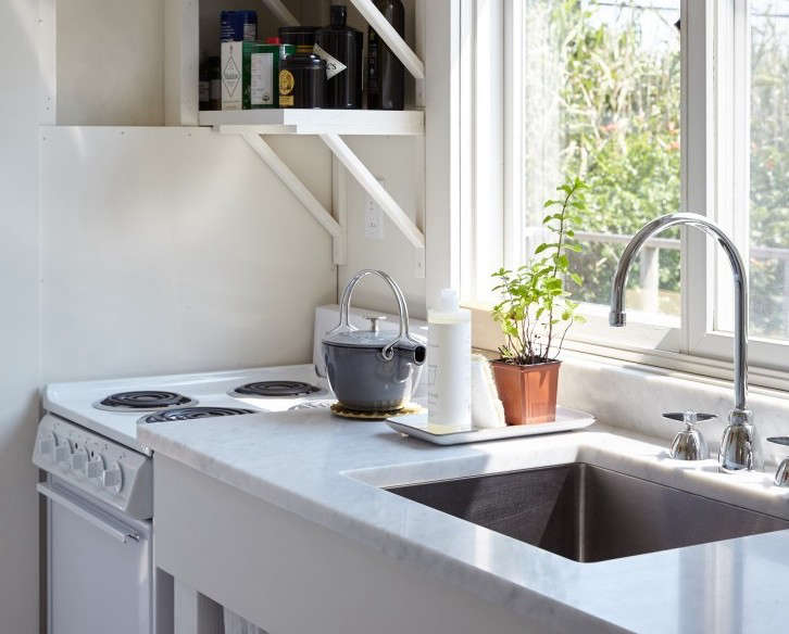 A Single Bowl Stainless Steel Sink In Chic Fixer Upper On Fire