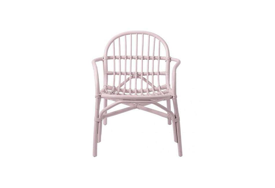 Bloomingville Blush Pink Rattan Chair