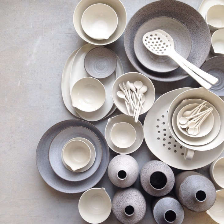 Henry Street Studiois a small-batch Williamsburg, Brooklyn, ceramics studiofounded several years ago by mother-and-daughter team Loren and Aliza Simons; contact them directly for ordering information. (See our postA Family Affair: Henry Street Studio.)