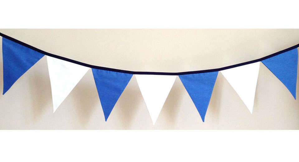 Piggy and Squirrel Fabric Bunting
