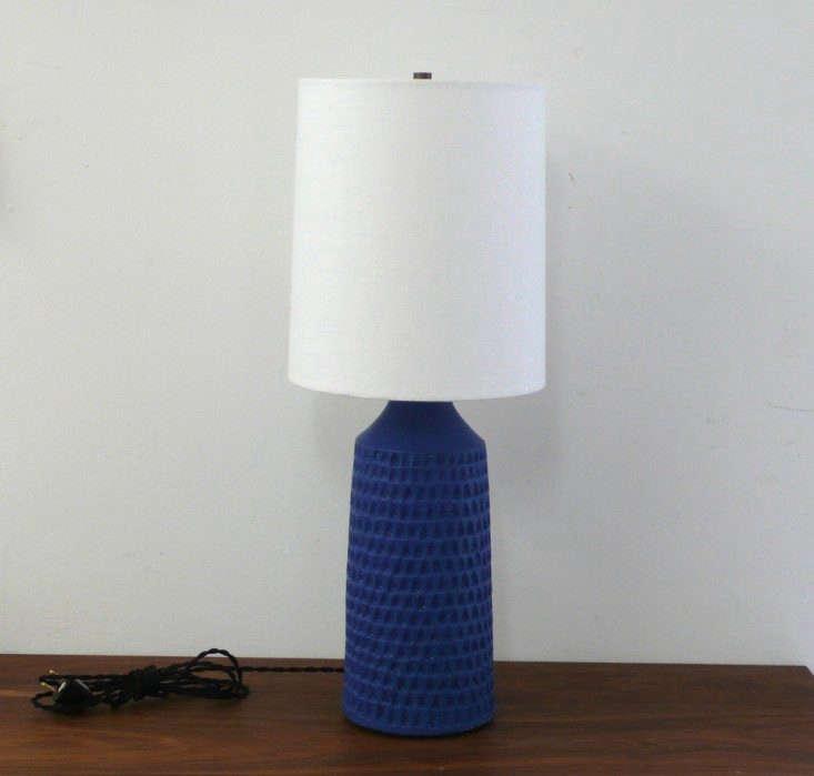 Ideal victoria morris carved lamp cobalt blue remodelista x