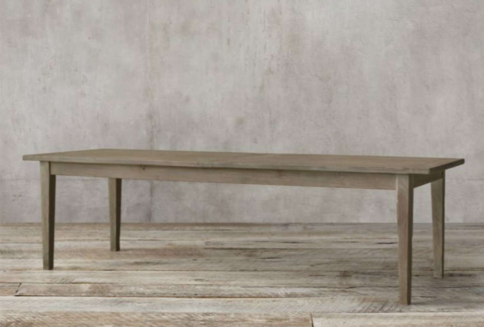 The 00s Boulangerie Rectangular Extension Dining Table is available in six dimensions and four finishes; starting at $src=