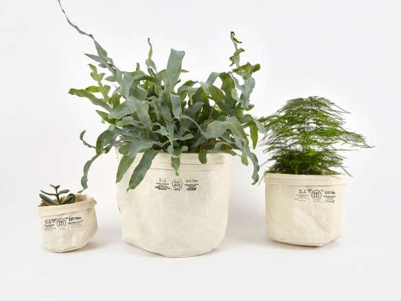 Remodelista & Puebco Canvas Plant Pot Covers