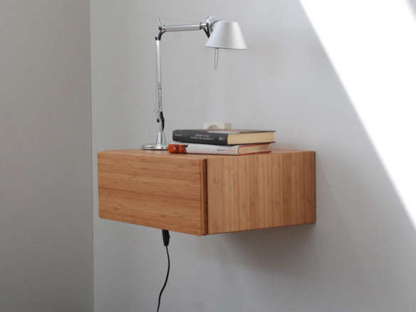 Bamboo Floating Bedside Table Part 62
