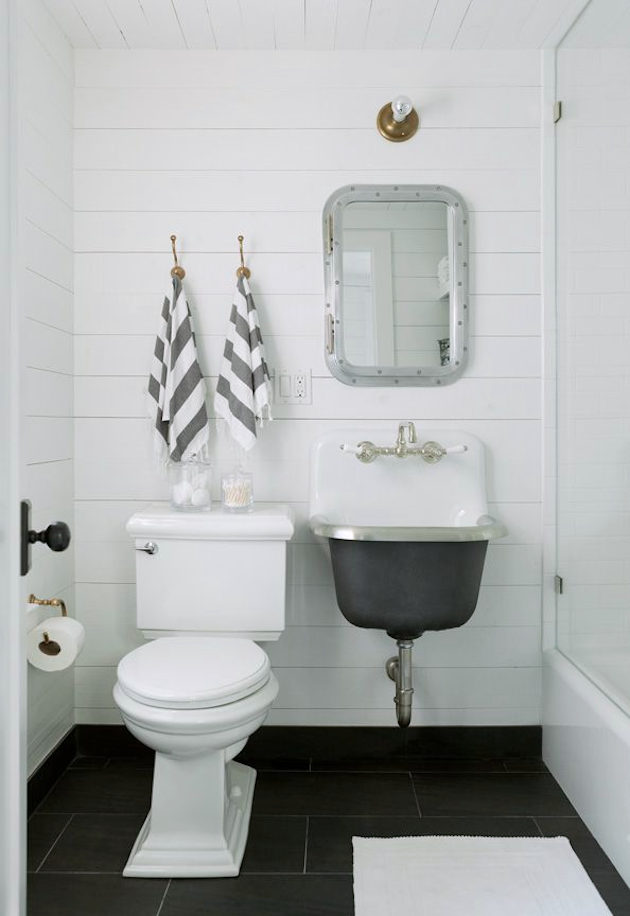 Steal This Look The Compact Family Bath Beach House Edition - Remodelista bathroom