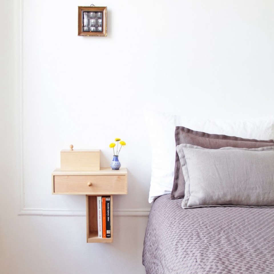 Wall Mounted Bedside Shelves
