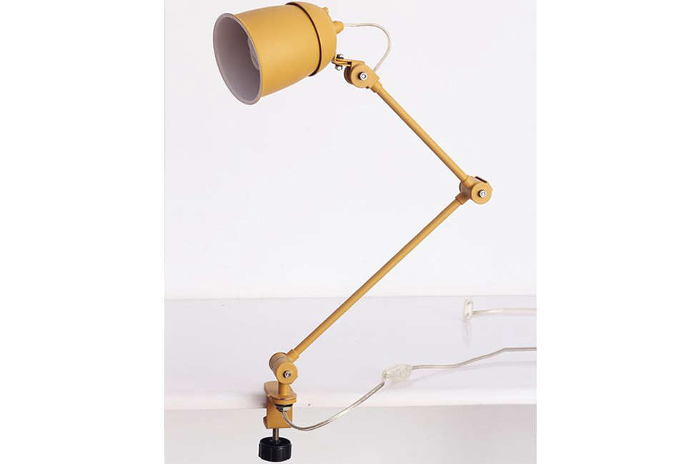 Playn Contemporary Yellow Clamp Lamp