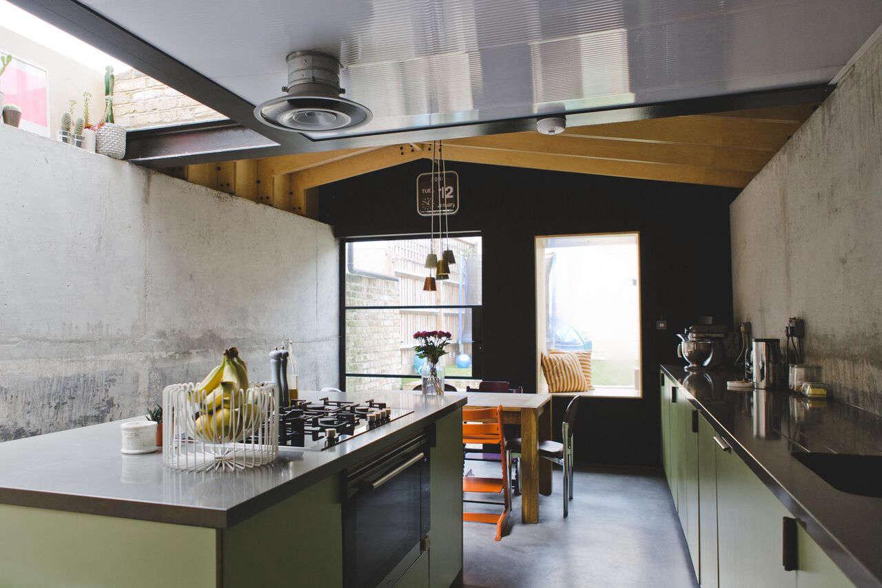architect simon astridges kitchen at plywood house a london victorian remodeled photo via fvf