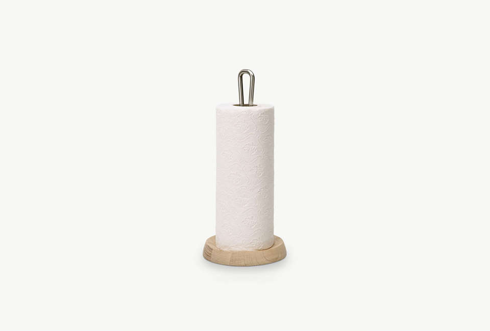 Skagerak Bollard Paper Towel Holder In Oak