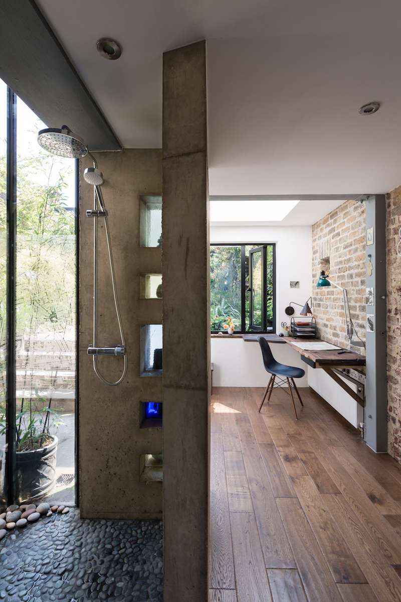 A Light-Filled Writing Studio (plus Outdoor Shower) for a London Author