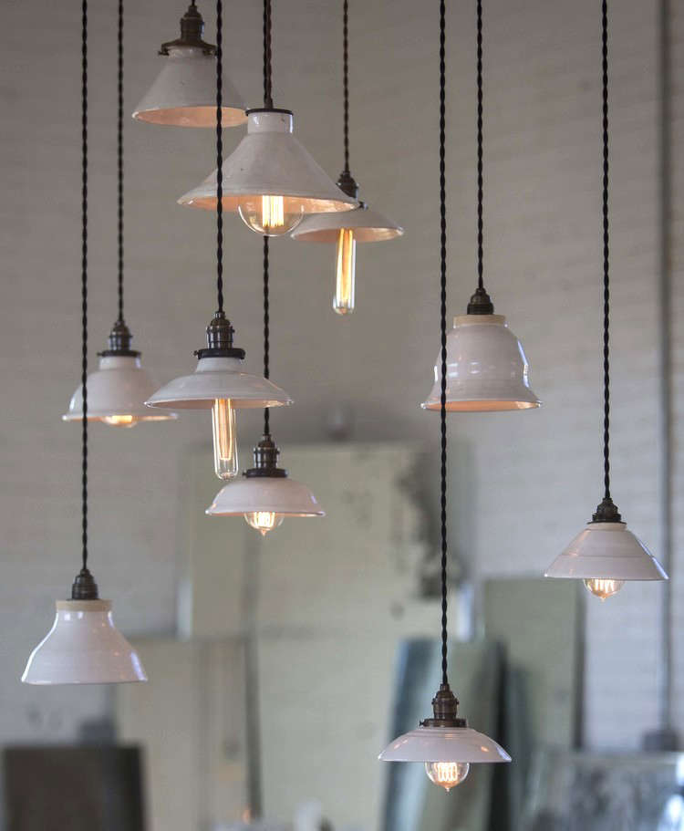 Trend Alert 6 Fanciful Porcelain Pendant Lights Remodelista