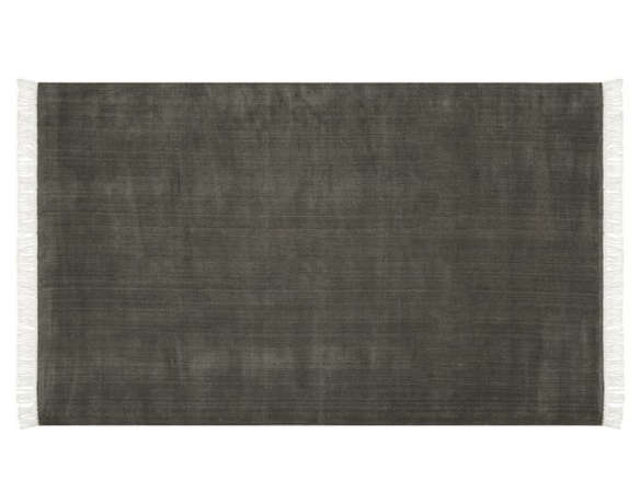 Fringed Hand Loomed Rug Charcoal