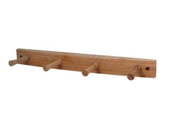 spectrum decorative 4 peg wall mount wood rack. Black Bedroom Furniture Sets. Home Design Ideas