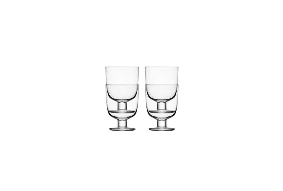 I wasn't the only one who ordered the Iittala Lempi Glasses over the holidays; Julie ordered them as well and gave some to Francesca. They're $74.99 for a set of four clear glasses on Amazon. They were also included in our post10 Easy Pieces: The New Short Wine Glass.