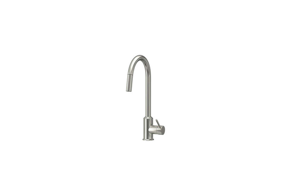 Ringskär Single Lever Kitchen Faucet, White