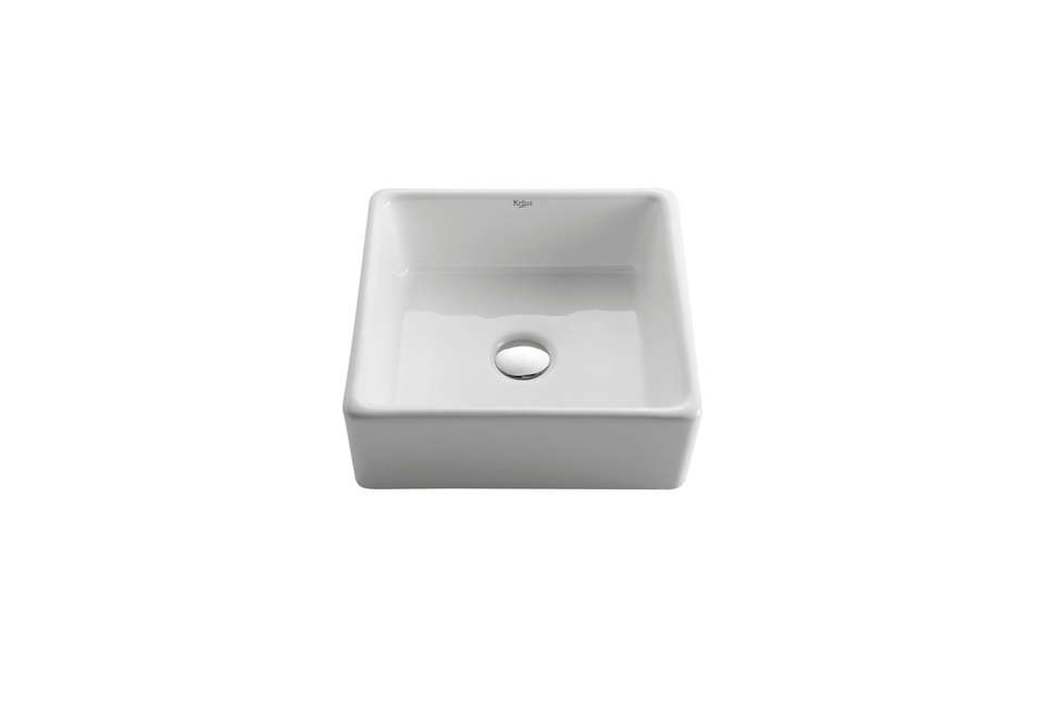 Kraus White Square Washbasin