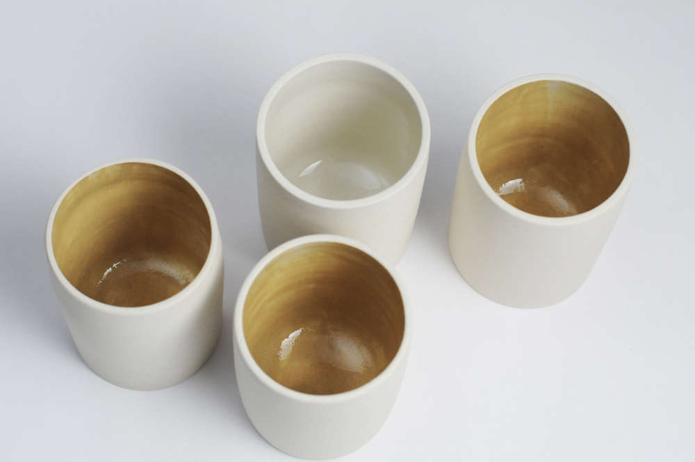 Phoenix, Arizona–based Miro Chun was a practicing architect when, unable to find prep and serving bowls she liked, she took up ceramics to remake the tableware in her kitchen. She left architecture, and in 2014 she started ceramics companyMiro Made This. (Read more about her in Miro Made This: Architect-Designed Ceramics for Everyday Life.)The Cream Stoneware Teacups shown above are $40 each from Miro Made This.