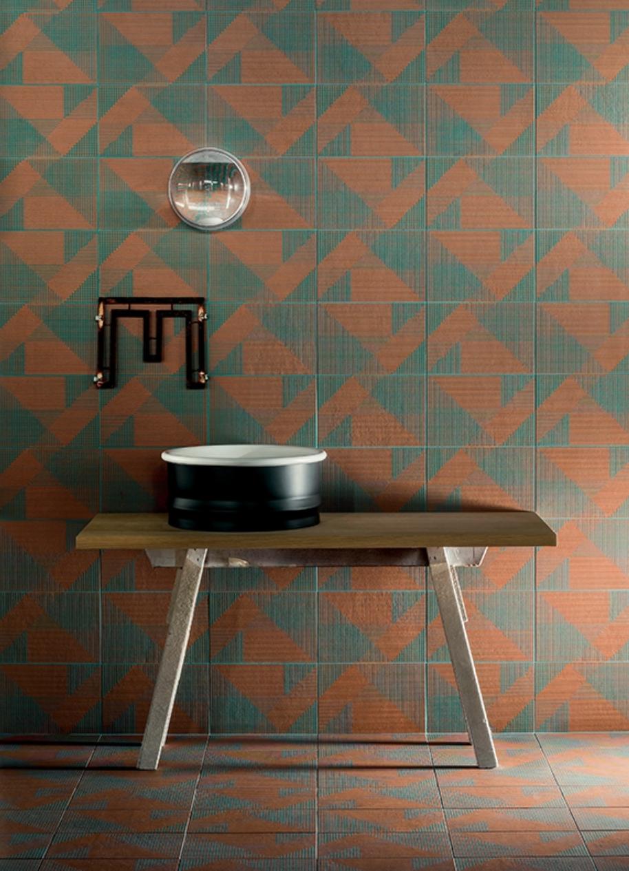 Tierra Tiles by Urquiola for Mutina Behind Washbasin