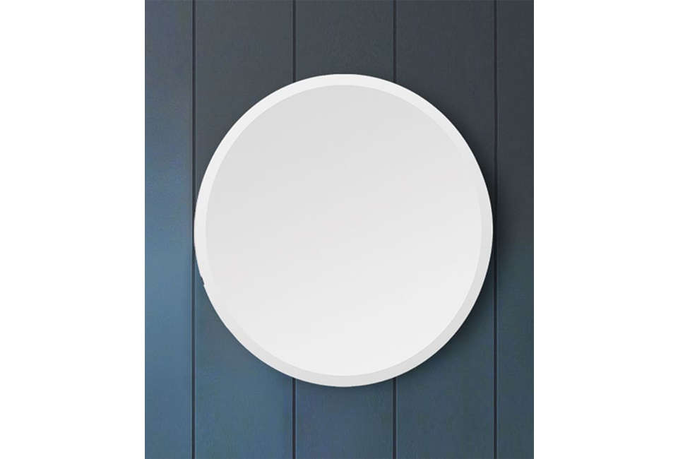 West Elm Frameless Round Mirror