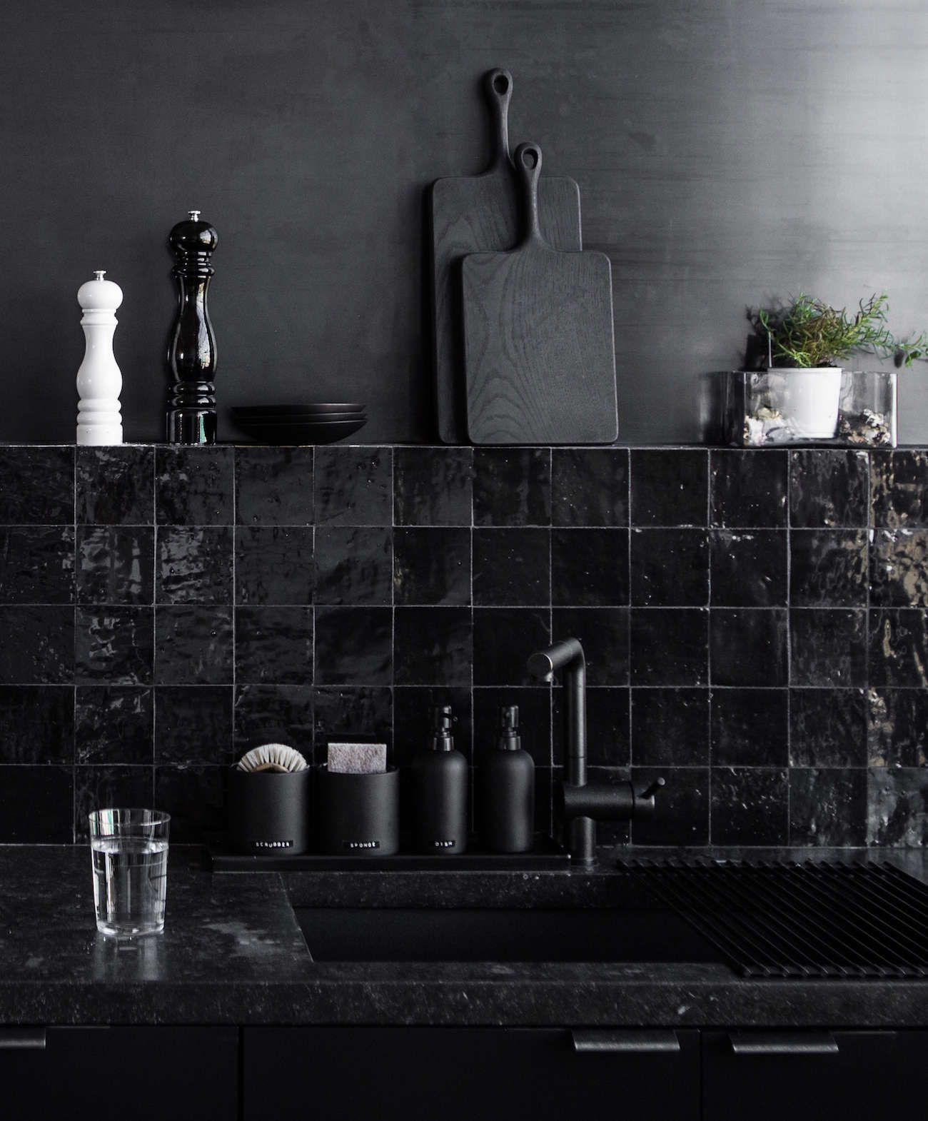 Steal This Look: A Black-on-Black Staff Kitchen In San