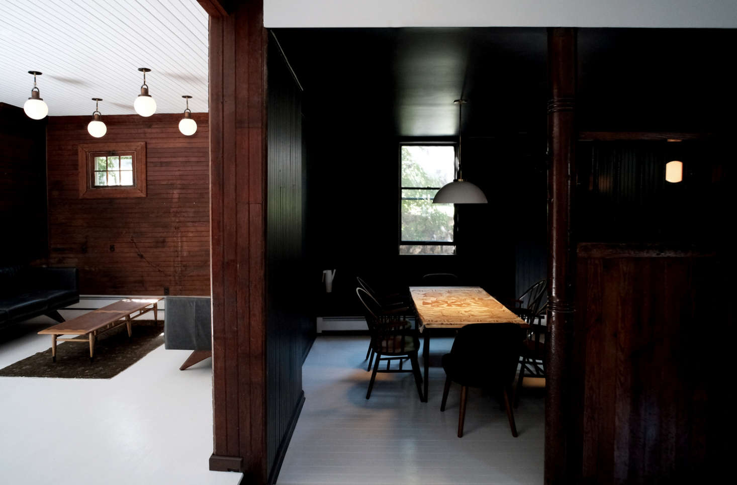 before and after a tuxedo park carriage house gets an. Black Bedroom Furniture Sets. Home Design Ideas
