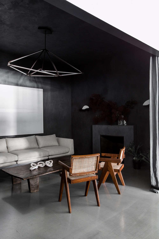 San Francisco Office Entry Lounge Black Walls