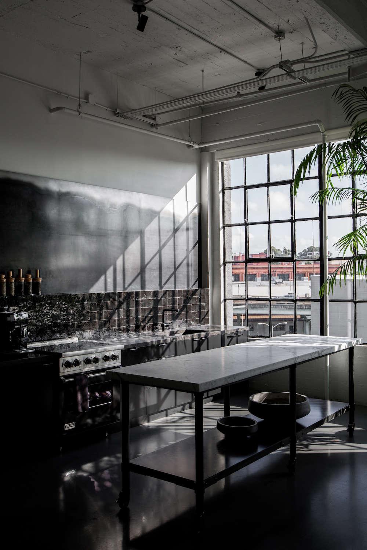 Black Industrial Kitchen in San Francisco