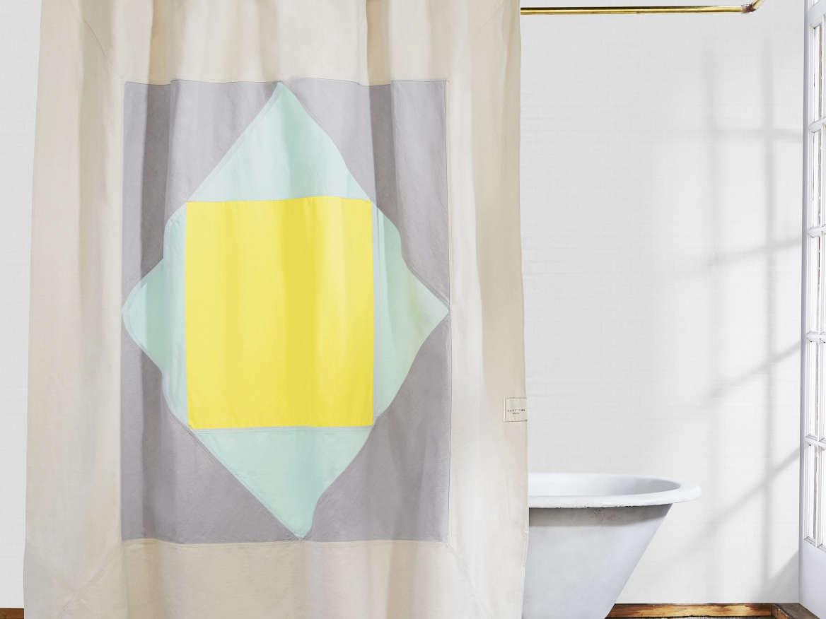 The Narlai U2013 Mint Organic Cotton Canvas Curtain