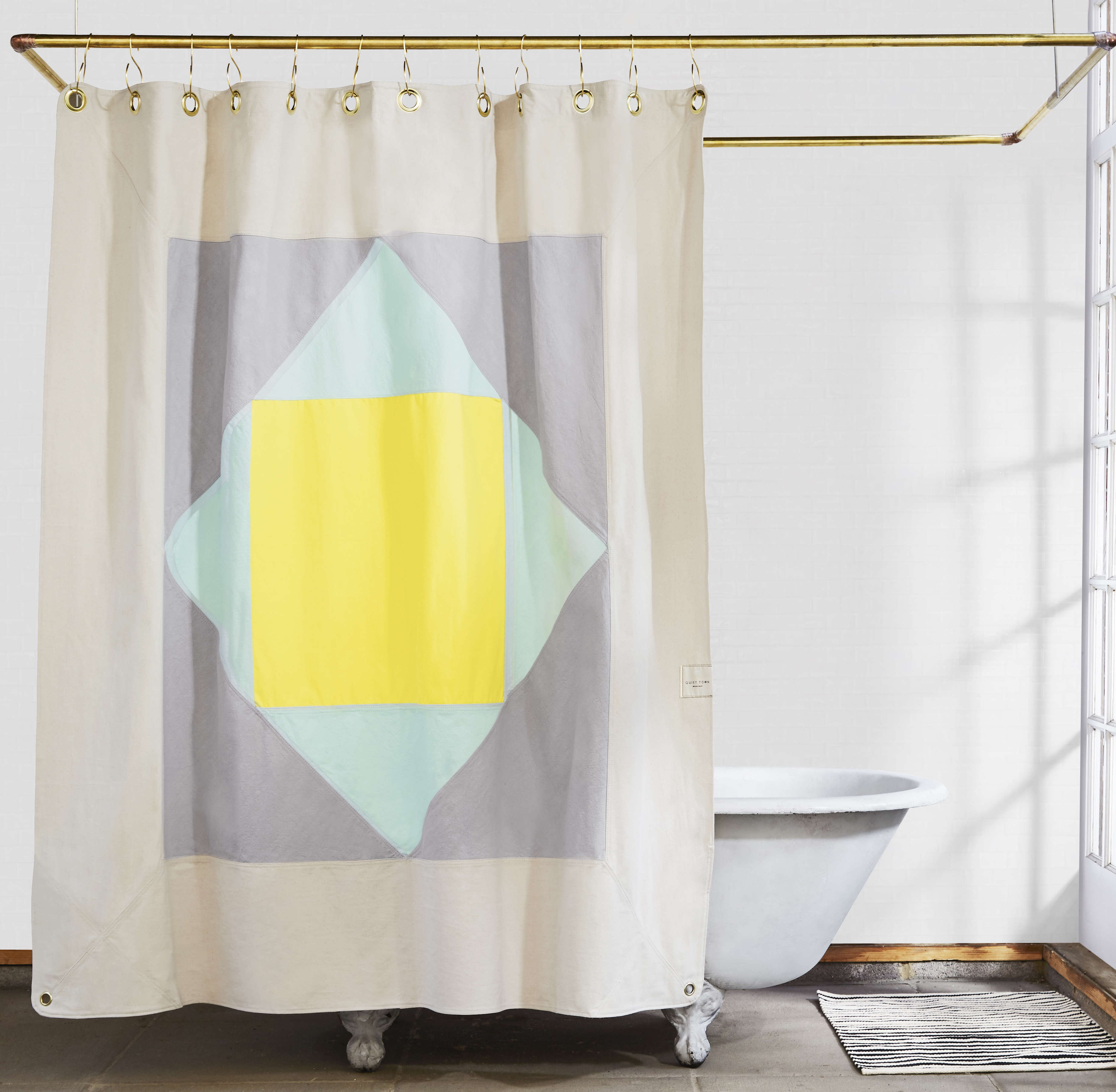 The Narlai Mint Organic Cotton Canvas Curtain