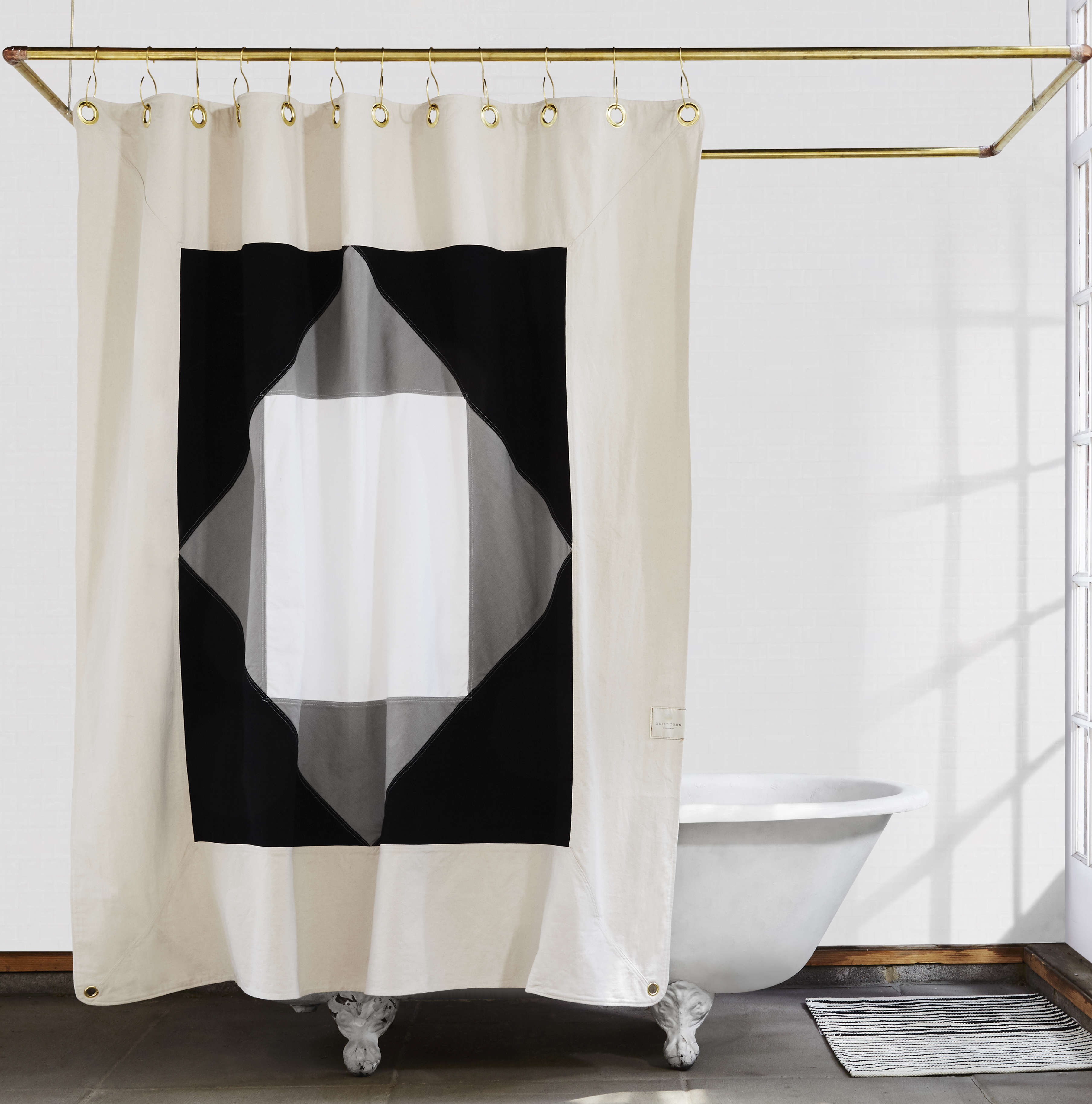Statement Shower Curtains From Quiet Town Plus Glamorous Hooks