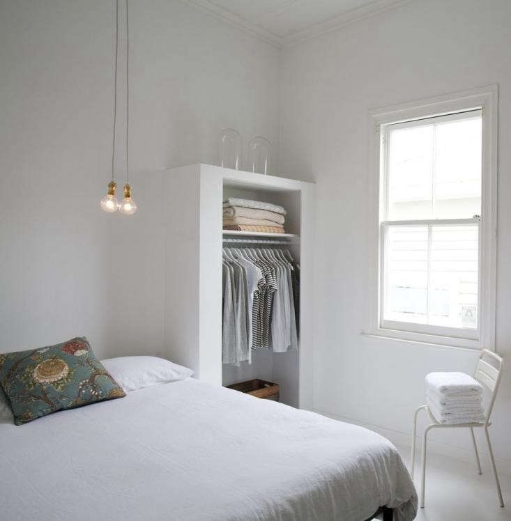 The bare bones treatment of this bedroom by Father Rabbit Limited turns a small space into a restful retreat. Photograph courtesy of Father Rabbit from Shopper&#8