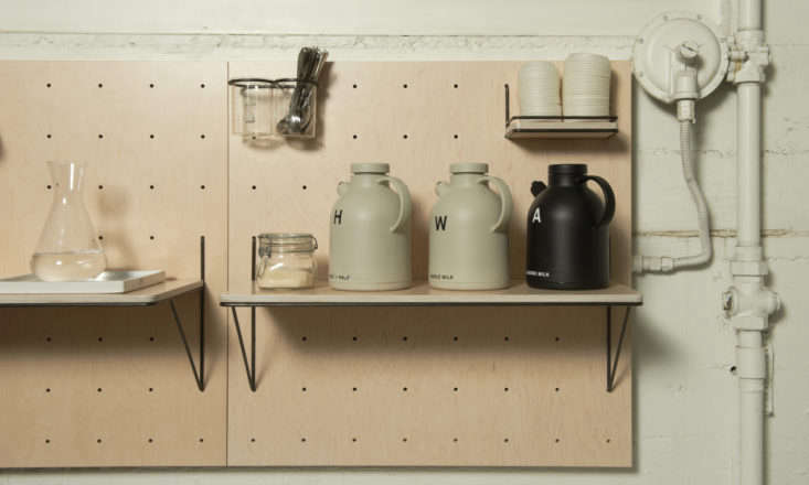 Serveware on Pegboards at Front Cafe by Yvonne Mouser, Photo by James Newman