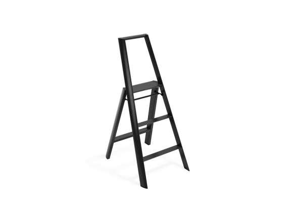 Astonishing Hasegawa Lucano Black 3 Step Stool Cjindustries Chair Design For Home Cjindustriesco
