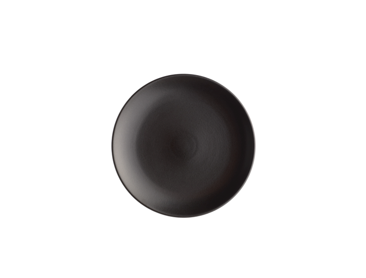 Black Coupe Dinner Plate by Heath