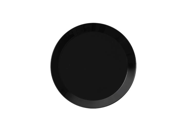 Black Iittala Teema Dinner Plate
