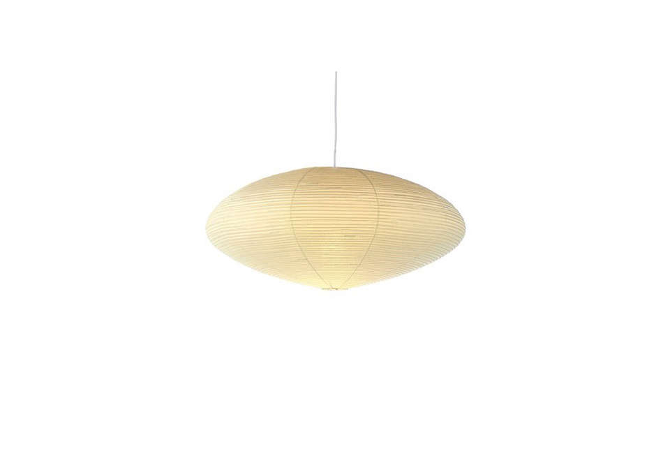 """Akari means """"brightness"""" in Japanese. The Oblong Akari Ceiling Light is available in three sizes; $200 to $900 at the Noguchi Museum."""