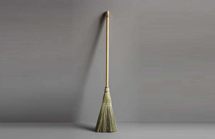 The Shaker Broomhas a broomcorn head and a pine handle; $40 from Haydenville Broomworks, in Massachusetts.