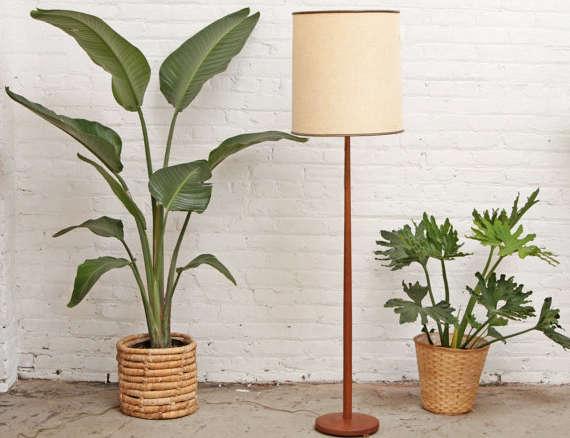 Teak danish floor lamp mid century aloadofball Image collections