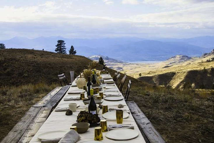 One of our all-time favorite outdoor Thanksgivings, from Into the Wild With Le Marché St. George.