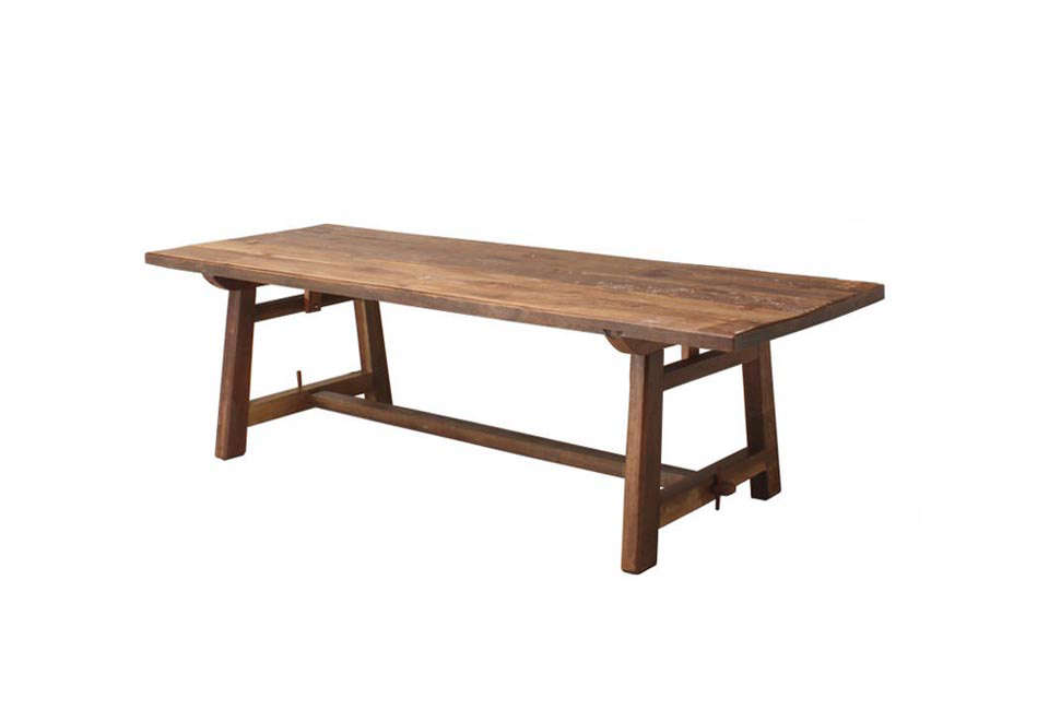Cute Andy Thornton Large Patina Teak Refectory Table