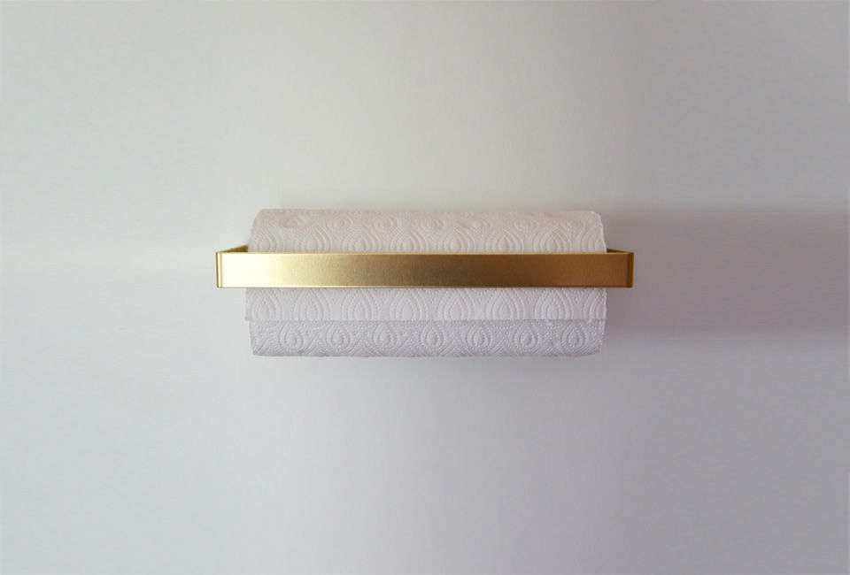 An Ingenious Brass Paper Towel Holder from Germany, Glam Edition