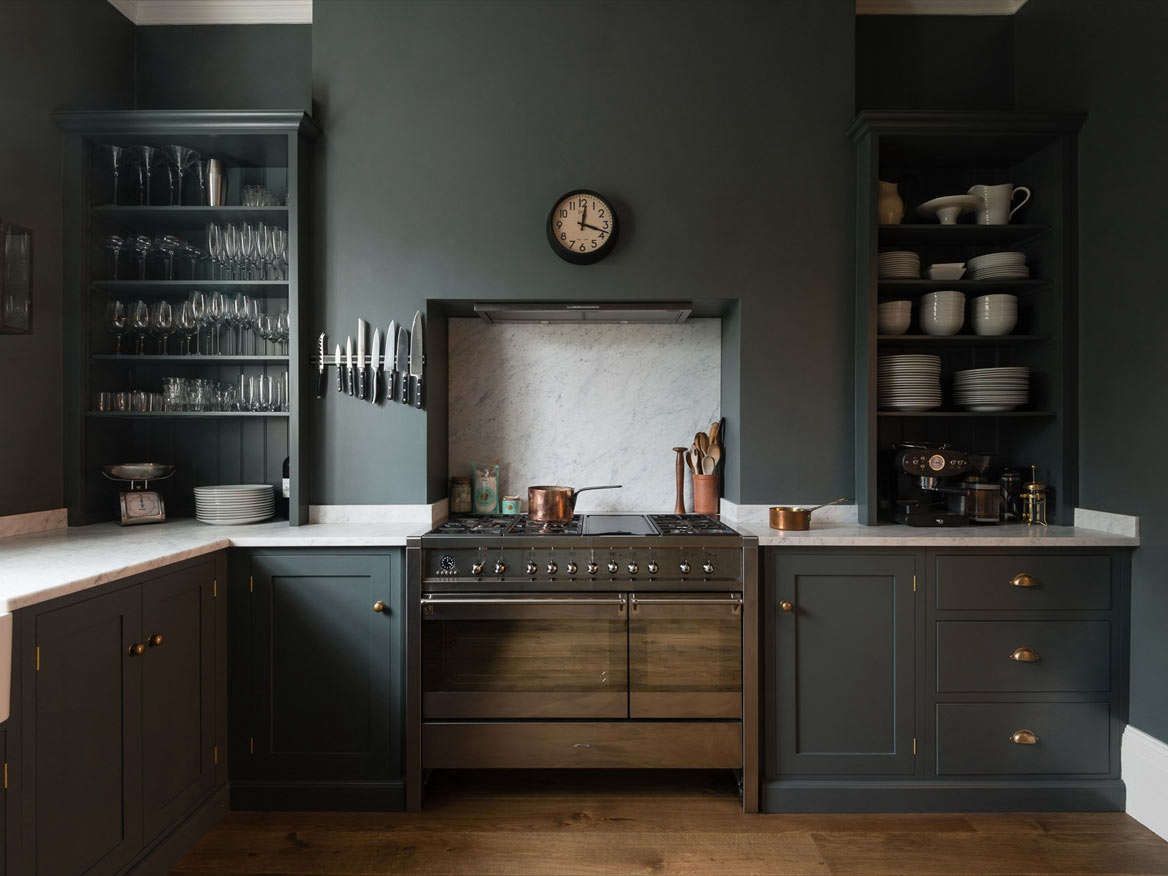 Superb DeVOL Bloomsbury  Dark Shaker Cabinets