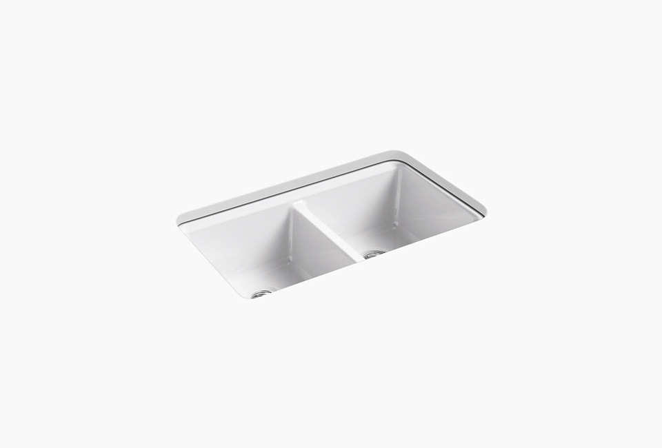 Kohler Under-Mount White Kitchen Sink
