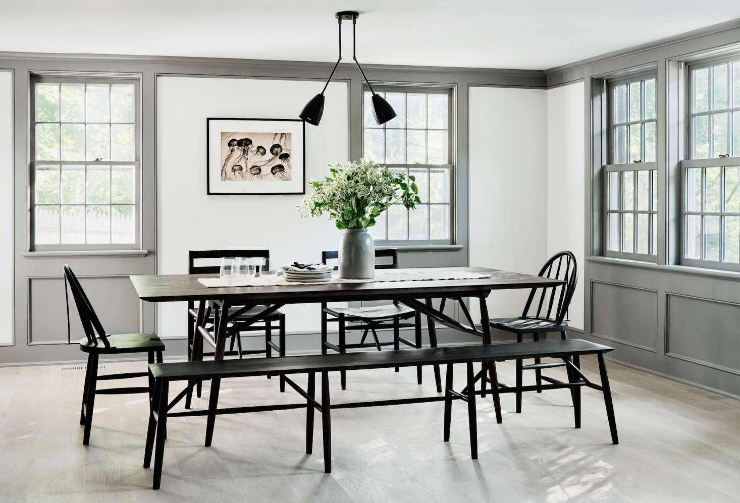 A Renovated Farmhouse In Bedford Ny With Scandinavian