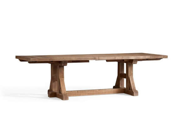 pottery barn dining tables round reclaimed pine extending table ideas benchwright for sale