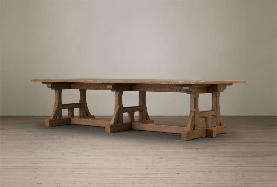 Fresh Restoration Hardware Circa Craftsman Rectangular Dining Table