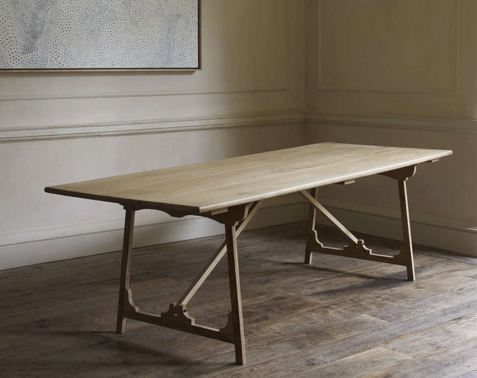 Beautiful Rose Uniacke Folding Campaign Refectory Table