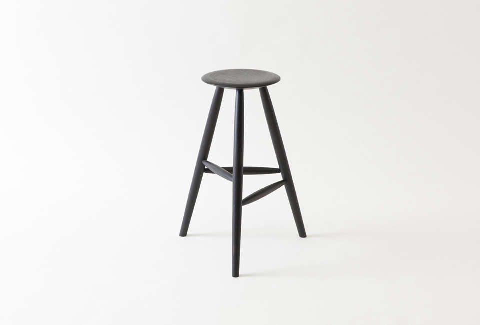 Sawkille Co. Counter Stool in Oxidized Black Walnut