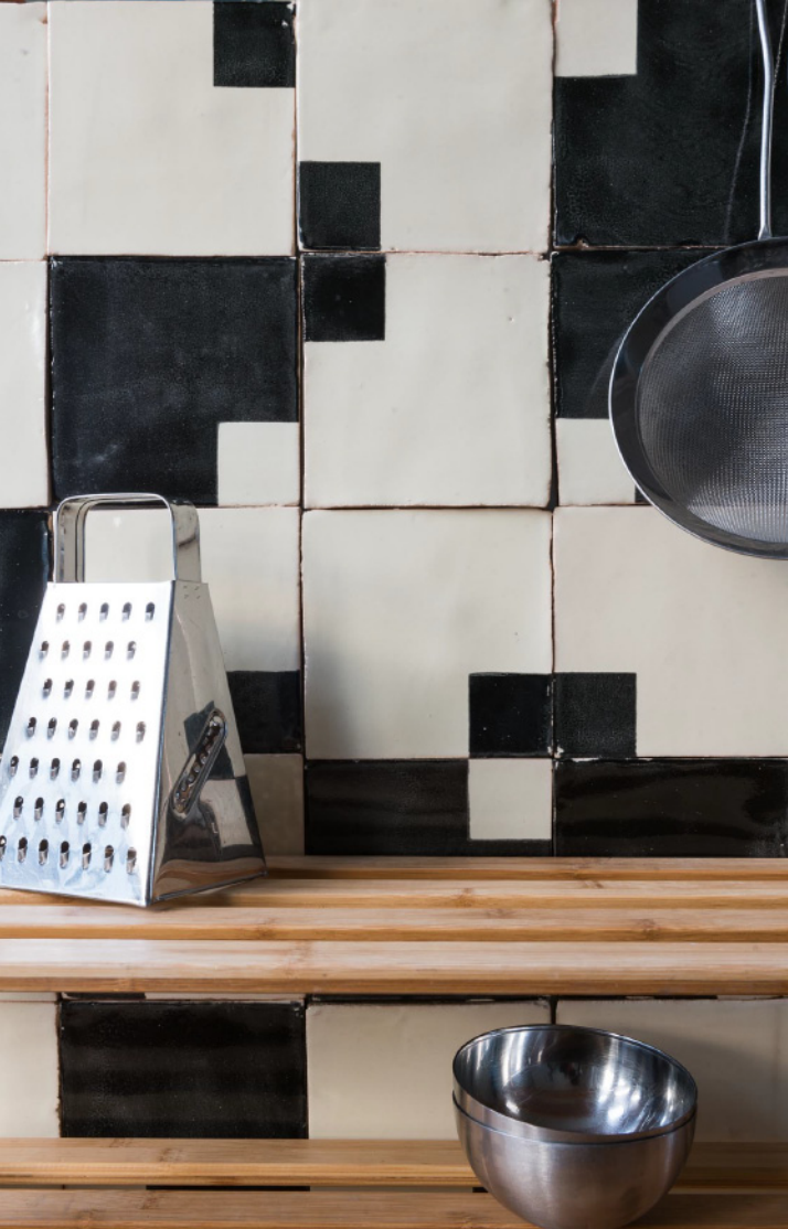 Smink Things Squared In Tile with Kitchen Shelf