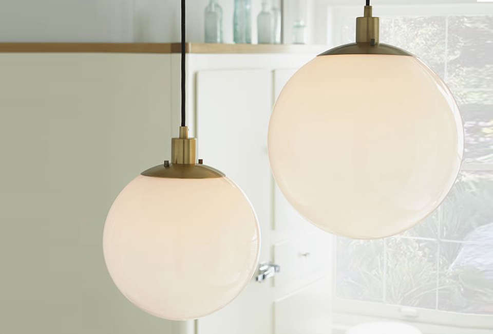 West Elm Globe Pendant Lights & 10 Easy Pieces: White Globe Pendant Lights - Remodelista